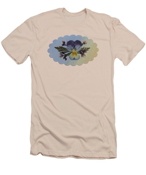 Viola Pressed Flower Arrangement Men's T-Shirt (Athletic Fit)