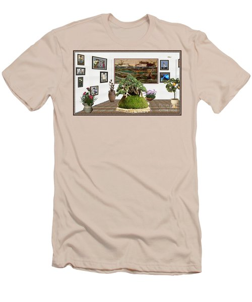 Virtual Exhibition -  Bonsai Palm 17 Men's T-Shirt (Slim Fit) by Pemaro