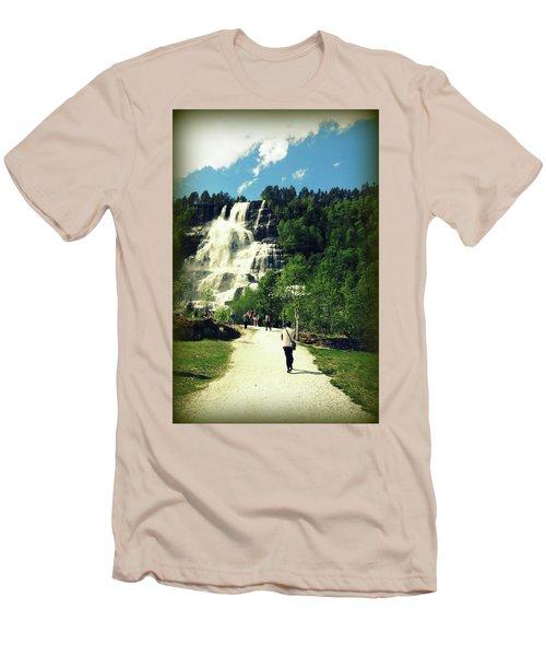 Visit To Tvindefossen Falls Men's T-Shirt (Athletic Fit)