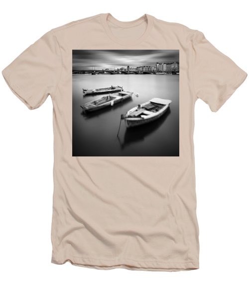Vltava River During Autumn Time, Prague, Czech Republic Men's T-Shirt (Athletic Fit)