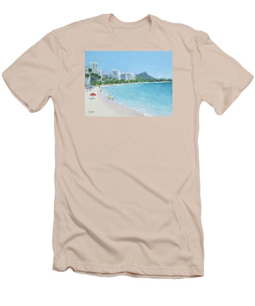 Waikiki Beach Honolulu Hawaii Men's T-Shirt (Athletic Fit)