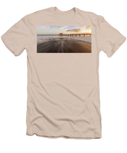 Men's T-Shirt (Athletic Fit) featuring the photograph Waimea Pier by Dustin LeFevre