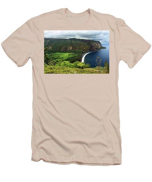 Waipio Valley Men's T-Shirt (Slim Fit) by James Eddy