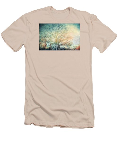 Men's T-Shirt (Slim Fit) featuring the photograph Waiting For Rain by Michele Cornelius