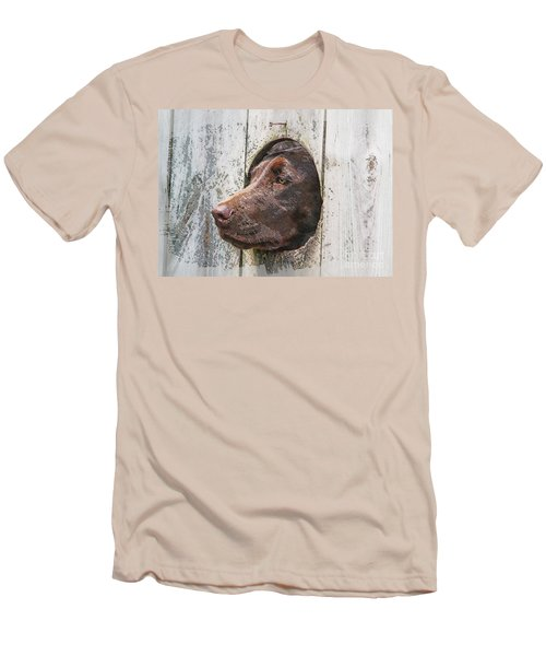 Men's T-Shirt (Slim Fit) featuring the photograph Waiting On Master by Robert Pearson