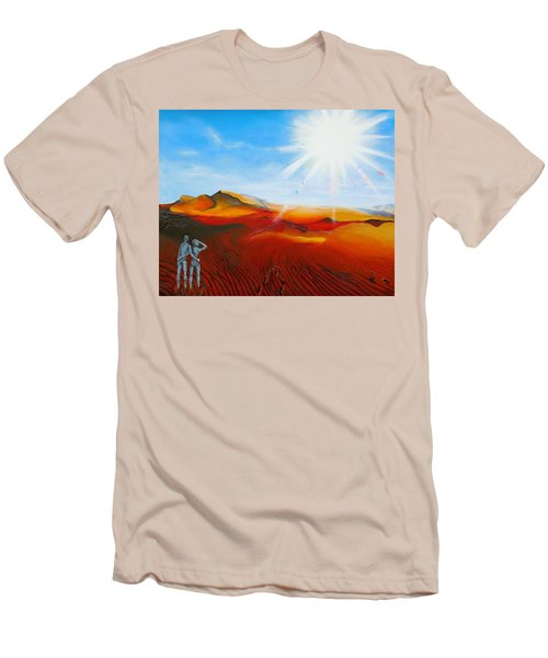 Walk A Mile Men's T-Shirt (Slim Fit) by Raymond Perez
