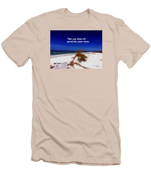 Walk In The Sand Men's T-Shirt (Slim Fit) by Gary Wonning