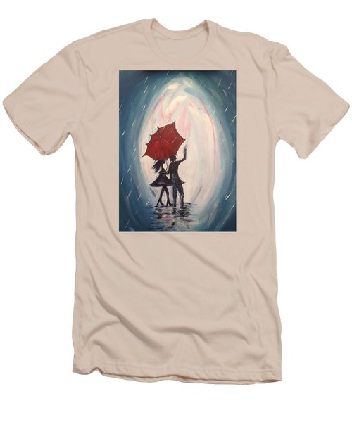 Walking In The Rain Men's T-Shirt (Athletic Fit)