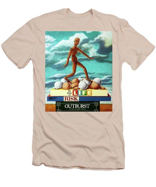 Walking On Eggshells Imaginative Realistic Painting Men's T-Shirt (Athletic Fit)
