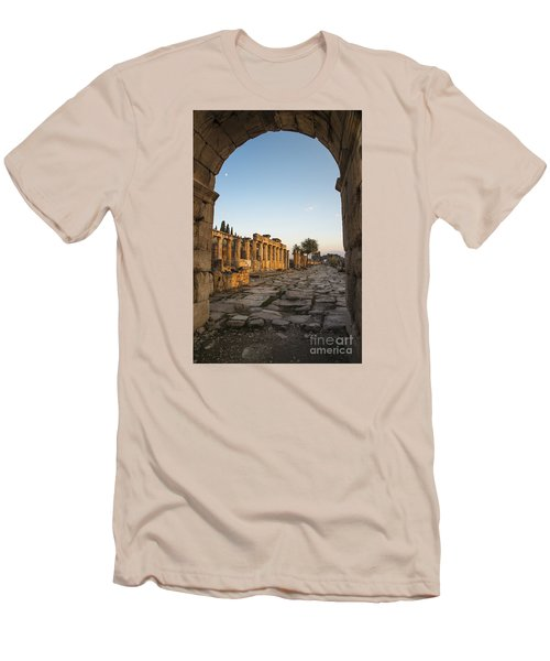 Men's T-Shirt (Slim Fit) featuring the photograph Walking The History In Hierapolis by Yuri Santin