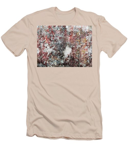 Wall Abstract 103 Men's T-Shirt (Slim Fit) by Maria Huntley
