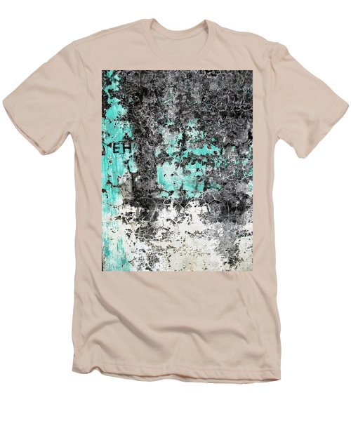 Wall Abstract 185 Men's T-Shirt (Slim Fit) by Maria Huntley
