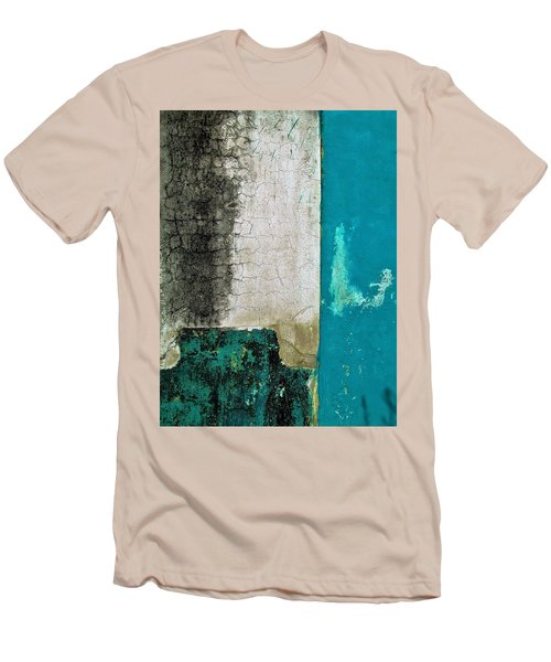 Wall Abstract 296 Men's T-Shirt (Slim Fit) by Maria Huntley