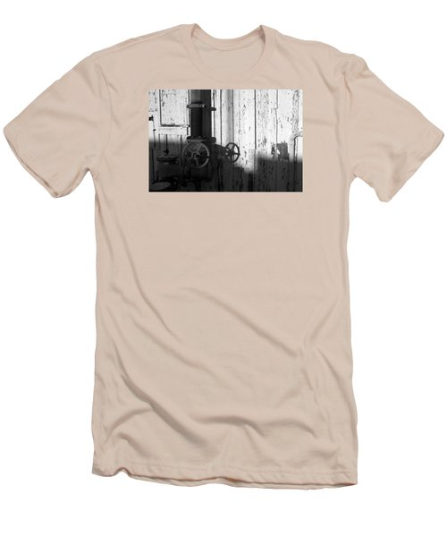 Wall Pipe Shadows Men's T-Shirt (Slim Fit) by Catherine Lau