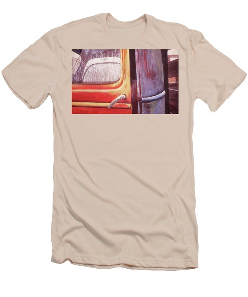 Men's T-Shirt (Slim Fit) featuring the painting Walter by Laurie Stewart