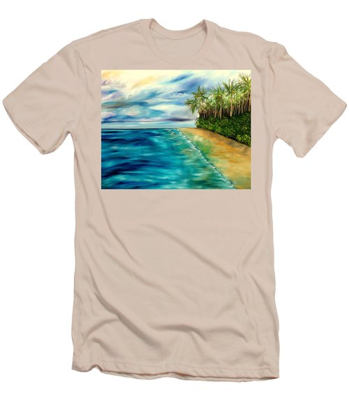 Wandering Through Turquoise Days Men's T-Shirt (Slim Fit) by Lisa Aerts