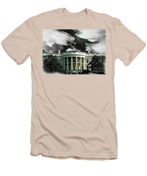 Washington Dc, White House Men's T-Shirt (Slim Fit) by Gull G