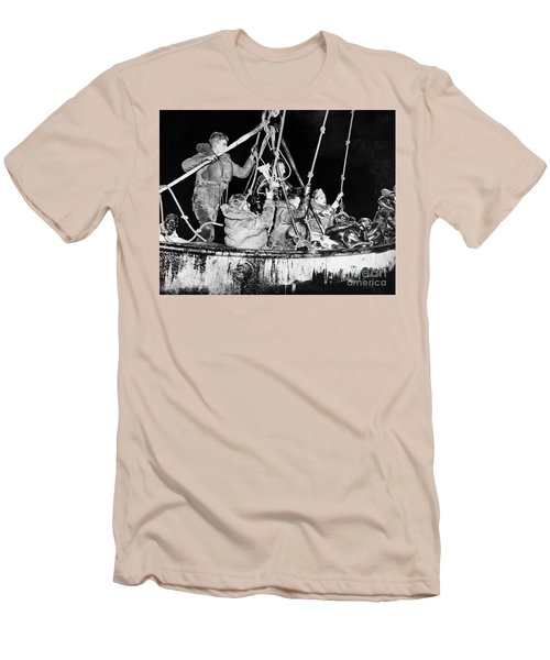 Men's T-Shirt (Athletic Fit) featuring the photograph Wasp Hobson Collision, 1952 by Granger