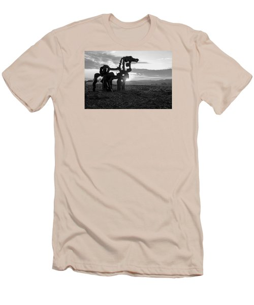 Watchful The Iron Horse  Men's T-Shirt (Slim Fit) by Reid Callaway