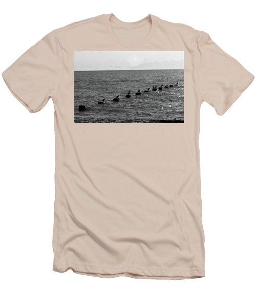 Water Birds Men's T-Shirt (Athletic Fit)