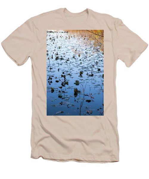 Water Lilies Autumn Song Men's T-Shirt (Athletic Fit)