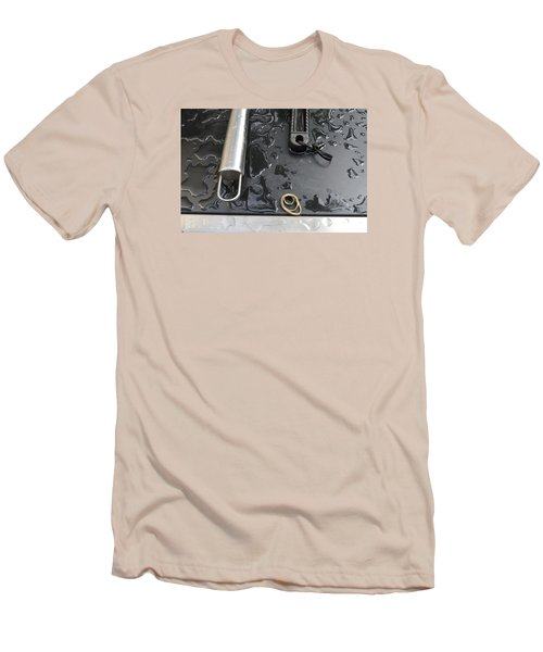 Men's T-Shirt (Slim Fit) featuring the photograph Water On The Bbq  by Lyle Crump