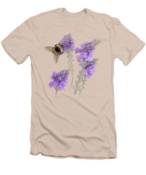 Watercolor Bumble Bee Men's T-Shirt (Slim Fit) by Ivana Westin