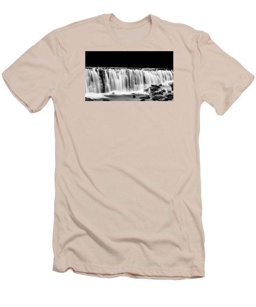 Waterfall At Night Men's T-Shirt (Slim Fit) by Wayne King