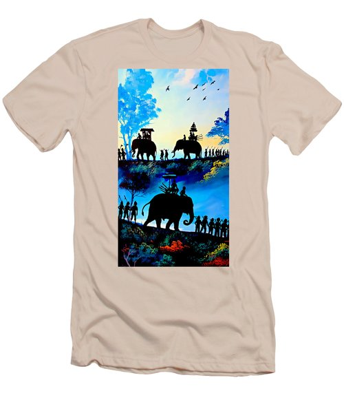 We March At Sunrise  Men's T-Shirt (Slim Fit) by Ian Gledhill