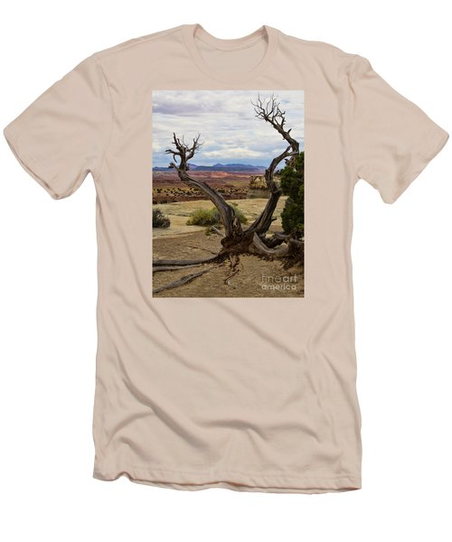 Weathered Men's T-Shirt (Slim Fit) by Steven Parker