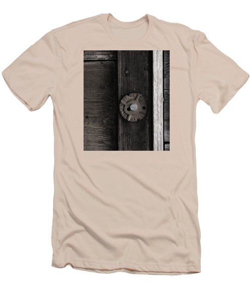 Weathered Wood And Metal Two Men's T-Shirt (Slim Fit) by Kandy Hurley