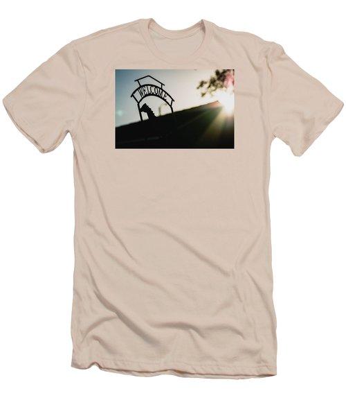 Welcome Men's T-Shirt (Slim Fit) by Hyuntae Kim