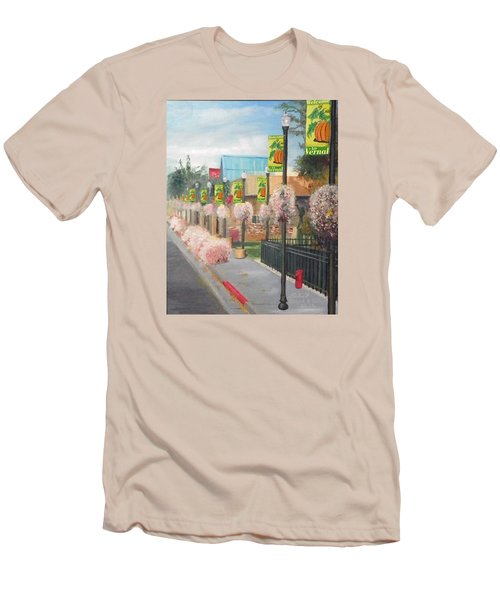 Welcome To Vernal Men's T-Shirt (Slim Fit) by Sherril Porter