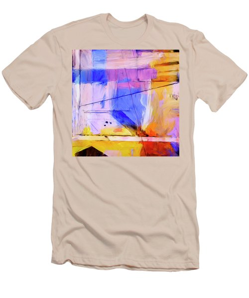 Men's T-Shirt (Slim Fit) featuring the painting Welder by Dominic Piperata