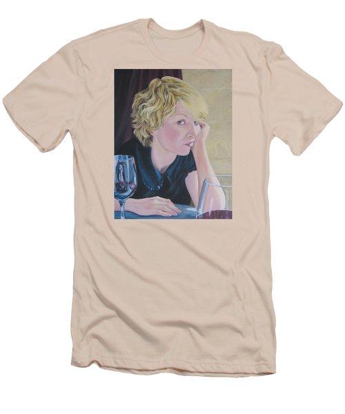 Well Men's T-Shirt (Slim Fit) by Connie Schaertl