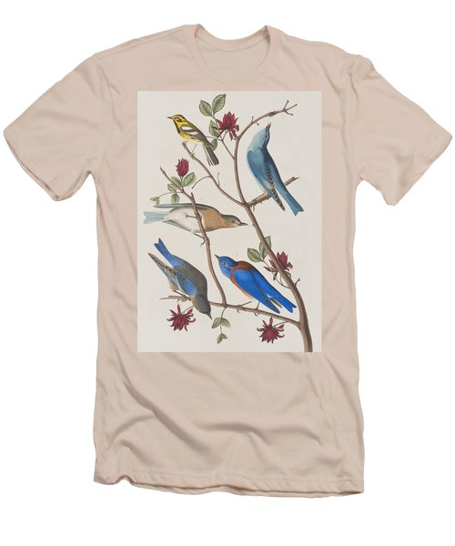 Western Blue-bird Men's T-Shirt (Athletic Fit)
