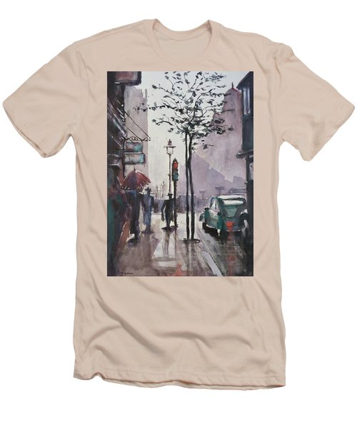 Wet Afternoon Men's T-Shirt (Slim Fit) by Geni Gorani