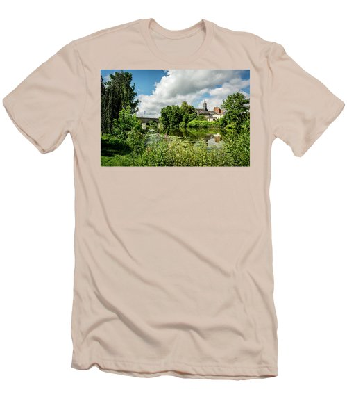 Men's T-Shirt (Slim Fit) featuring the photograph Wetzlar Germany by David Morefield