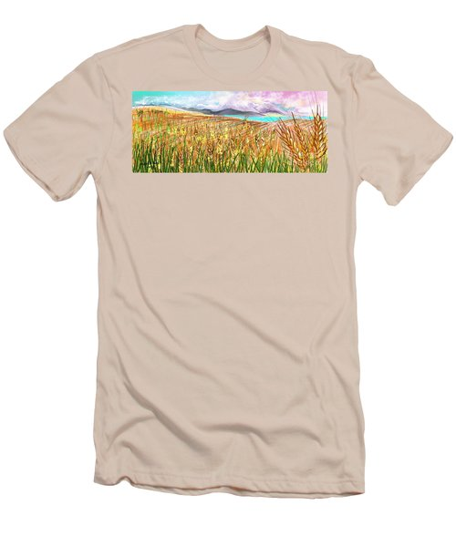 Wheat Landscape Men's T-Shirt (Athletic Fit)