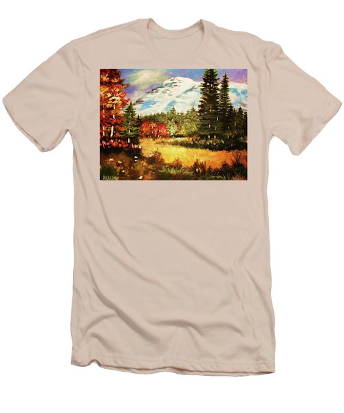 When Nature Exploits Her Colors Men's T-Shirt (Athletic Fit)