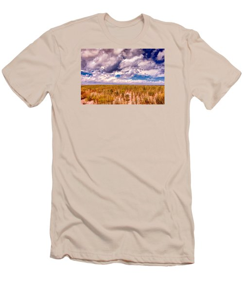 Men's T-Shirt (Slim Fit) featuring the photograph Where Land Meets Sky by Gary Slawsky