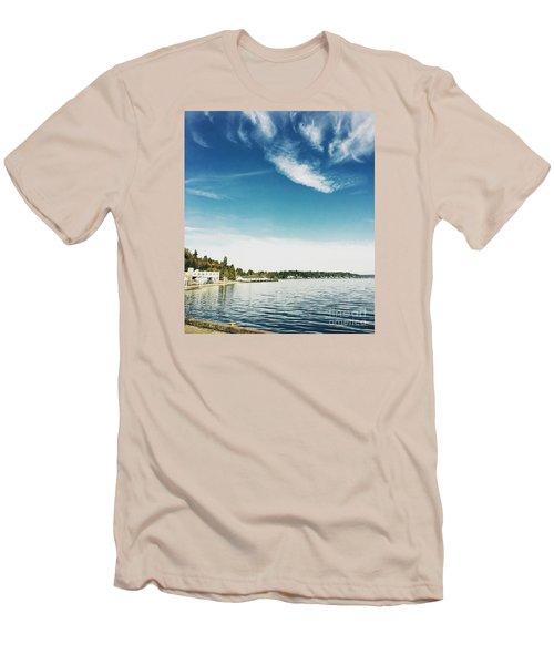 Whispy Northwest Days Men's T-Shirt (Athletic Fit)