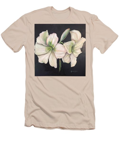 White Amaryllis  Men's T-Shirt (Athletic Fit)