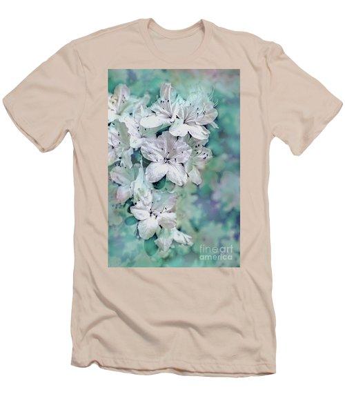 White Azaleas Men's T-Shirt (Slim Fit) by Sandy Moulder