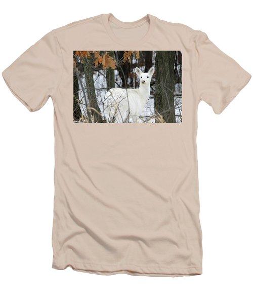 White Deer Vistor Men's T-Shirt (Slim Fit) by Brook Burling