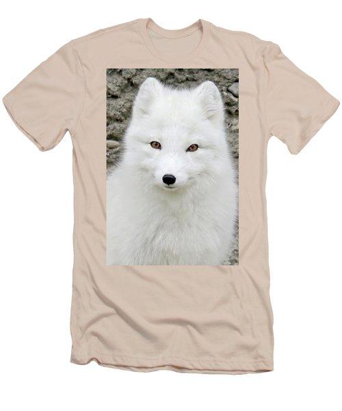 White Fox Men's T-Shirt (Slim Fit) by Athena Mckinzie