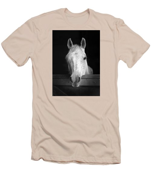 White Horse Men's T-Shirt (Slim Fit) by Marion Johnson