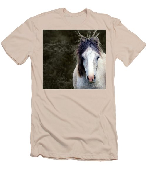 White Horse Men's T-Shirt (Slim Fit) by Sebastian Mathews Szewczyk