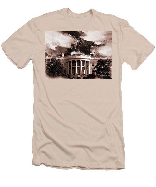 White House Washington Dc Men's T-Shirt (Slim Fit) by Gull G