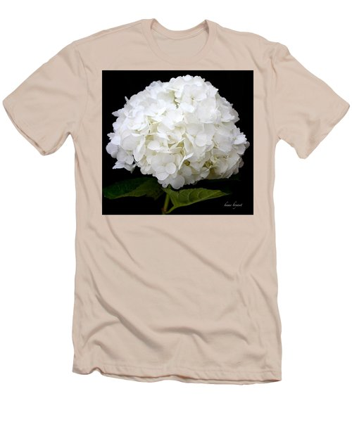 White Hydrangea Men's T-Shirt (Athletic Fit)